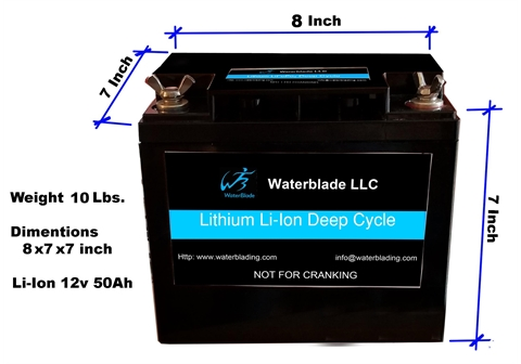 12V Lithium Battery Li Ion - 50Ah 12′